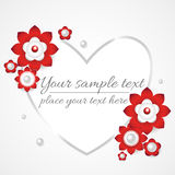 White floral 3d background Royalty Free Stock Images