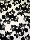 White floral fabric Royalty Free Stock Image