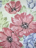 White floral fabric Stock Image