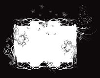 White floral frame Royalty Free Stock Image
