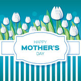 White Floral Greeting card - International Happy Mothers Day Stock Photography