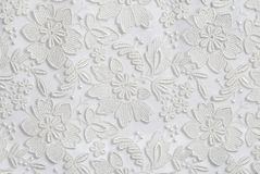 White floral lace texture background Royalty Free Stock Photo