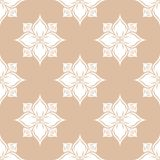 White floral seamless pattern on beige background Royalty Free Stock Image