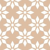 White floral seamless pattern on beige background. White floral ornament on beige background. Seamless pattern for textile and wallpapers Royalty Free Stock Photo