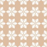White floral pattern on beige seamless background. White floral ornament on beige seamless background. Seamless pattern for textile and wallpapers Stock Photography
