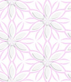 White floral with pink layering seamless Royalty Free Stock Photos