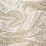 White floral satin background. Royalty Free Stock Photo