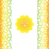 White floral seamless border on bright background. Royalty Free Stock Photography