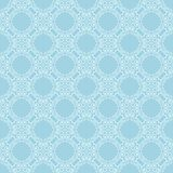 White floral seamless design on blue background. White floral design on blue background. Seamless ornament for textile and wallpapers Royalty Free Stock Photography