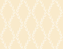 White Floral Seamless Pattern from Leaves Stock Images