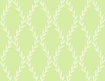 White Floral Seamless Pattern from Leaves on green Stock Photo