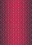 White floral seamless pattern on red gradient background Stock Images