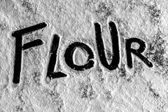 White flour on black background Royalty Free Stock Image