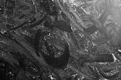 White flour dusted, black background Royalty Free Stock Photo