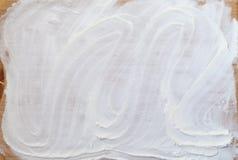 White flour on wooden table Stock Image