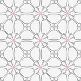 White flourish with pink tile ornament Royalty Free Stock Image