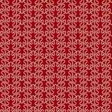 Victorian Lines Red Seamless Pattern Background. White flourished Victorian long lines with dark red background. Seamless texture background Stock Image