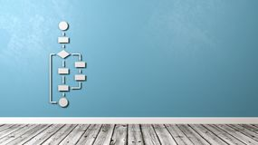 Flow Chart Schema on Wall Royalty Free Stock Photo