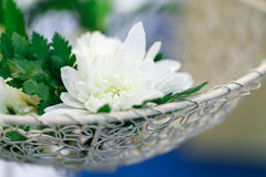 White Flower. Artificial flower for wedding and party decoration Stock Images