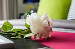 White flower on bed Stock Photography