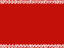 White flower blue heart banner. Banner of white flowers with blue hearts on red background vector illustration