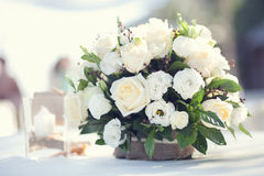 White flower bouquet Stock Image