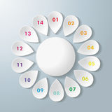 White Flower Colorful Numbers Royalty Free Stock Image