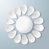 White Flower Colorful Numbers. White flower on the grey background. Eps 10  file Royalty Free Stock Images