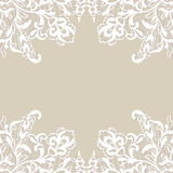 White flower frame. Royalty Free Stock Images