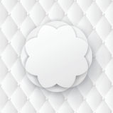 White flower frame on white upholstery background. Royalty Free Stock Images