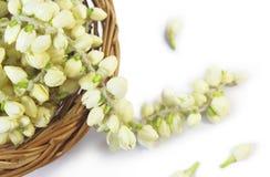 White flower garland Stock Photo