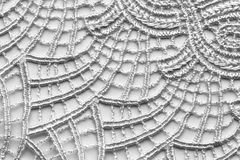 White flower lace material texture macro shot Stock Photo