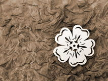 White flower. Paper cutting. Stock Photography