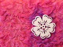 White flower. Paper cutting. Royalty Free Stock Photos