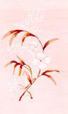 White flower on pink paper Royalty Free Stock Photo