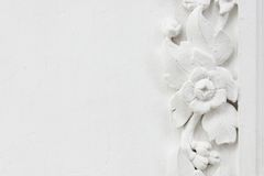 White flower stucco Royalty Free Stock Photo