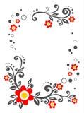 White Flowers Border Stock Images