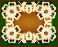White flowers frame. Paper cutting royalty free stock photo