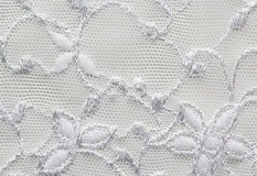 White flowers lace material texture macro shot Stock Images