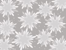 White flowers on a light background. Vector. Stock Photography