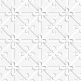 White flowers in and out pattern Stock Photos