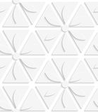 White flowers and triangles seamless Royalty Free Stock Photo