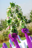 White flowers at wedding Stock Image