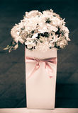 White flowers wedding decorations stock photos