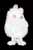 White Fluffy Bunny Toy Stock Photo