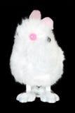 White Fluffy Bunny Toy Stock Photo