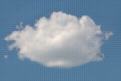 White fluffy cloud from small dots Stock Images