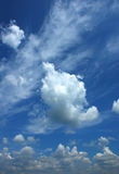 White fluffy clouds Stock Photography