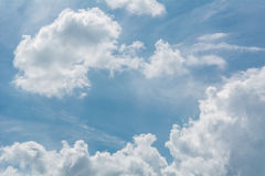 White fluffy clouds Royalty Free Stock Photos