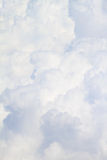 White fluffy clouds background Stock Photo